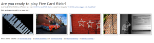 5 card flickr